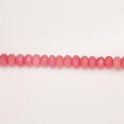 Rondelles Facettes Jade ''CANDY'' teinté 8mm Rose 10