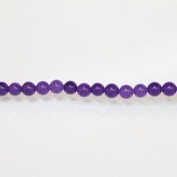 Perles Rondes Jade ''CANDY'' teinté 6mm Violet 11