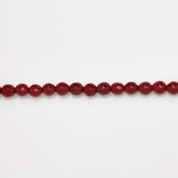 Perles Facettes Jade ''CANDY'' teinté 6mm Rouge 19