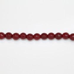Perles Facettes Jade ''CANDY'' teinté 8mm Rouge 19
