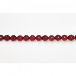 Perles Facettes Jade ''CANDY'' teinté 10mm Rouge 19