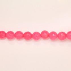 Perles Facettes Jade ''CANDY'' teinté 10mm Rose 25