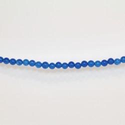 Perles Rondes Jade ''CANDY'' teinté 4mm Bleu 28