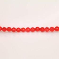 Perles Rondes Jade ''CANDY'' teinté 6mm Orange 31