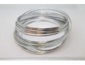 10 Mts Fil Aluminium plat Argenté 3x1mm
