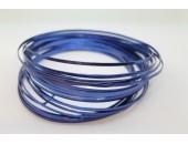 10 Mts Fil Aluminium plat Bleu Roi 3x1mm