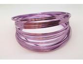 10 Mts Fil Aluminium plat Violet Clair 3x1mm