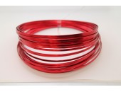 10 Mts Fil Aluminium plat Rouge 3x1mm