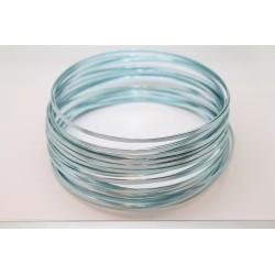10 Mts Fil Aluminium plat Bleu Clair 3x1mm