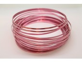 10 Mts Fil Aluminium plat Rose 5x1mm
