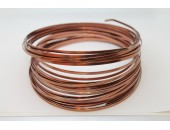 10 Mts Fil Aluminium plat Marron 5x1mm