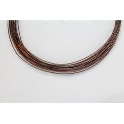 10 Mts Fil Aluminium rond Marron 0.8mm
