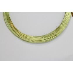 10 Mts Fil Aluminium rond Vert Pomme 1.0mm
