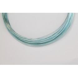 10 Mts Fil Aluminium rond Bleu Clair 1.0mm