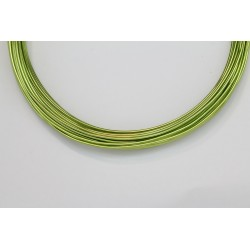 10 Mts Fil Aluminium rond Vert Pomme 1.2mm