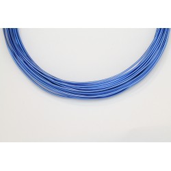 10 Mts Fil Aluminium rond Bleu Roi 1.2mm