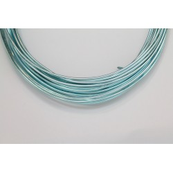 10 Mts Fil Aluminium rond Bleu Clair 1.5mm
