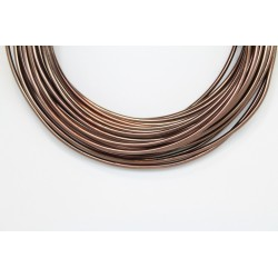10 Mts Fil Aluminium rond Marron 2.0mm