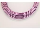 10 Mts Fil Aluminium rond Violet Clair 2.0mm