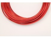 10 Mts Fil Aluminium rond Rouge 2.0mm