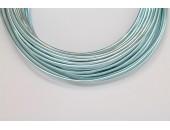 10 Mts Fil Aluminium rond Bleu Clair 2.0mm