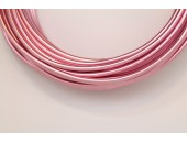 10 Mts Fil Aluminium rond Rose 3.0mm