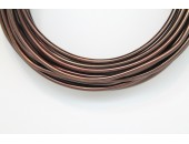 10 Mts Fil Aluminium rond Marron 3.0mm