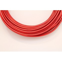10 Mts Fil Aluminium rond Rouge 3.0mm