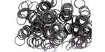 600 loom bands SILICONE noir uni