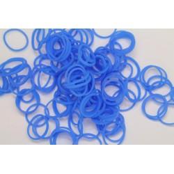 600 loom bands SILICONE bleu uni