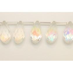25 Briolettes cristal A/B 10x20mm