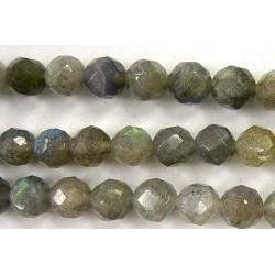 Perles Facettes Labradorite 4mm - Fil de 40 Centimetres