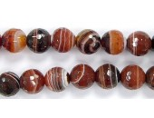 Perles Facettes Agate Noire/Rouge/Blanche 4mm - Fil de 40 Centimetres