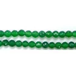 Perles Facettes Agate Verte 4mm - Fil de 40 Centimetres