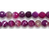 Perles Facettes Agate Rose Striée 4mm - Fil de 40 Centimetres