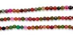 Perles Facettes Agate Teintée Tourmaline Rainbow 4mm - Fil de 40 Centimetres