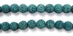 Perle Pierre de Lave Teintée Bleu 12mm