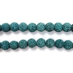 Perle Pierre de Lave Teintée Bleu 16mm