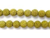 Perle Pierre de Lave Teintée Jaune 10mm