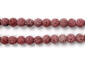 Perle Pierre de Lave Teintée Rose 8mm