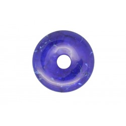 2 donuts pierre howlite trempee lapis 45 mm