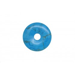 2 donuts pierre howlite trempee turquoise 35 mm