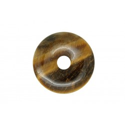2 donuts pierre oeil de tigre 45 mm