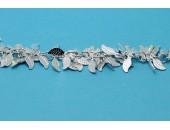 1 metre Chaine laiton argentee
