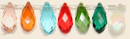 Briolettes Crystal.